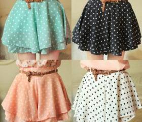 Lace Short with Polka Dot