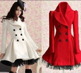 Red Wool Winter Coat - Sm Coats