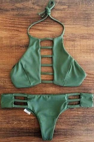 Green Swimsuit Bikini set